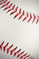 野球のボールのクローズアップ