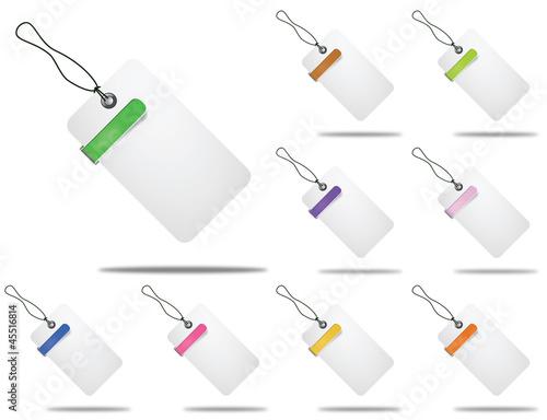 étiquettes multicolores concept commerce
