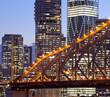 Brisbane city building, night