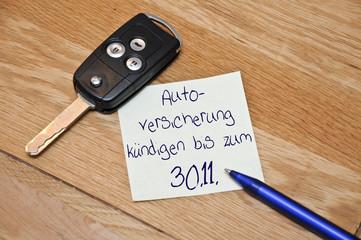 Autoversicherung kündigen bis zum 30.11.