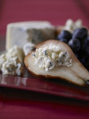 Blue Cheese Stuffed Pear Half