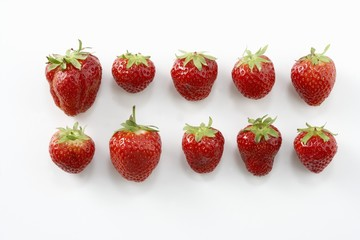 Ten strawberries