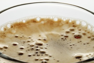 Coffee with foam (close-up)