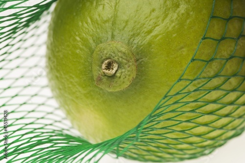 A lime in a net
