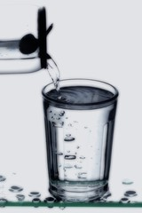 A soft drink being poured