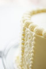 Cake Decorated with Buttercream Frosting