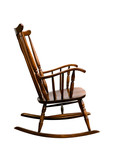 Vintage Damaged Rocking Chair - Right Side