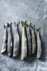 Fresh Smelt Sprinkled with Sea Salt