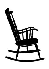 Vintage Rocking Chair Stencil - Righ Side