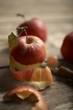Peeled apple