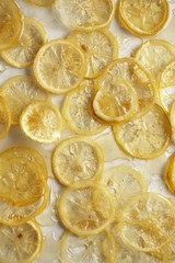 Lemon Slices Baked with Simple Sugar Syrup