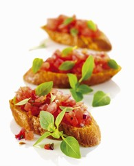 Bruschetta with chopped tomatoes