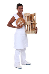 A black woman baker.