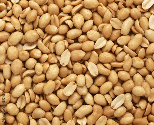 Salted peanuts (macro zoom)