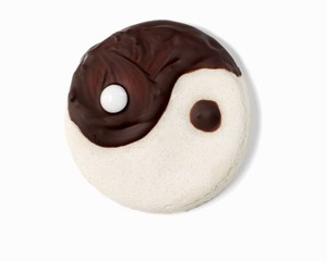 A yin-yang biscuit