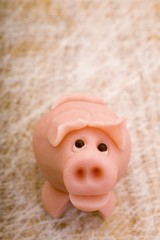 A marzipan pig