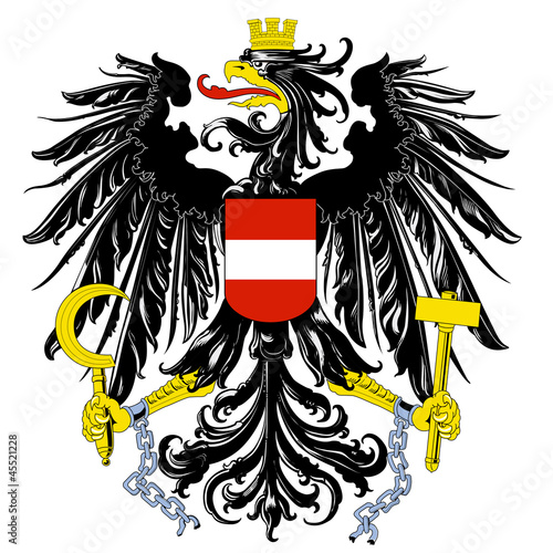 Leinwandbild Motiv Wappen Österreich