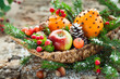 Christmas fruit basket