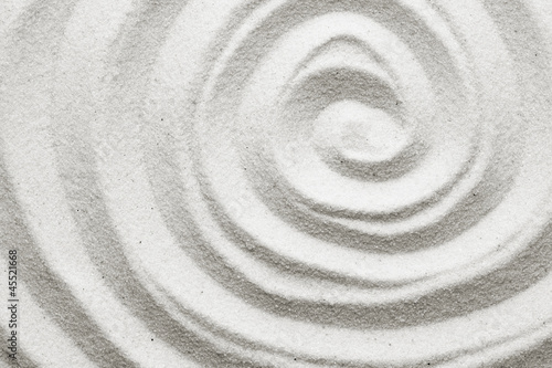 Foto op Canvas Zen Spiral in the sand