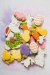 Many different Easter biscuits