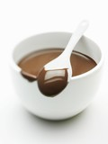 Chocolate Coated Spoon on a Bowl of Melted Chocolate