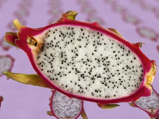 Half a dragonfruit, seen from above