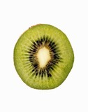 Kiwi Slice on White Background
