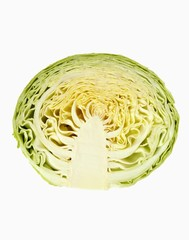 Half a white cabbage