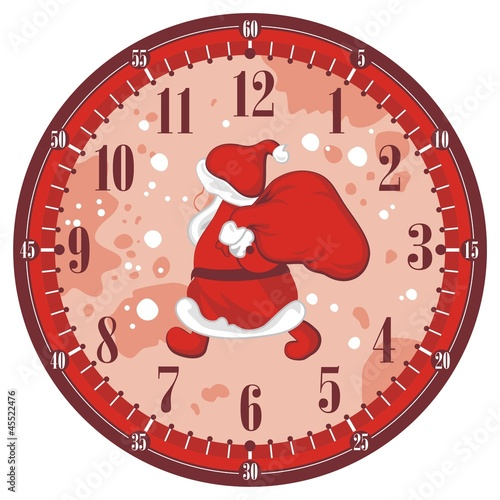 Christmas Clock Face
