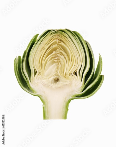 Half of a Fresh Artichoke
