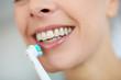 Closeup on woman's teeth