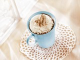 Chocolate drink with cream topping