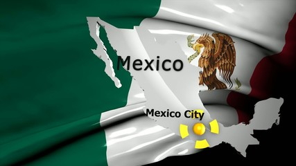 Crisis location map series, Mexico.