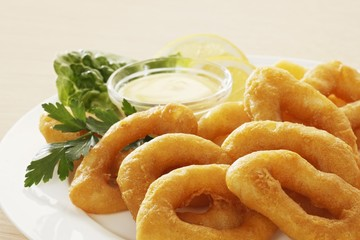Squid rings in batter