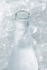 Ouzo in icy bottle