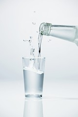 Pouring vodka into glass