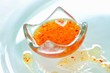 Sweet and sour sauce in a small glass dish