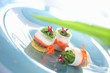 Radish rolls filled with tofu and wakame