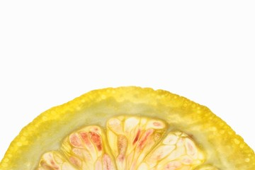 A halved orange slice