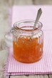 Orange marmalade in a jar