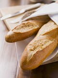 Baguettes in a bread basket