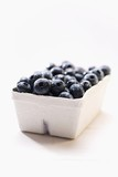 Blueberries in cardboard punnet