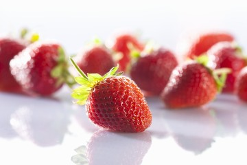 Several strawberries