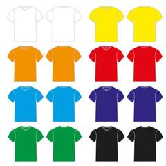 Set of colorful Tshirt for men