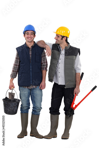 Two friendly handymen