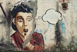 Fototapete Luftaufnahme - Graffiti - Graffiti