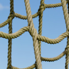 Rope net used for children climbing