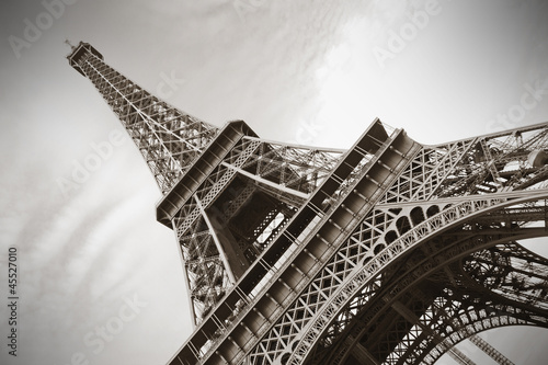 Papiers peints Con. Antique The Eiffel Tower, Paris