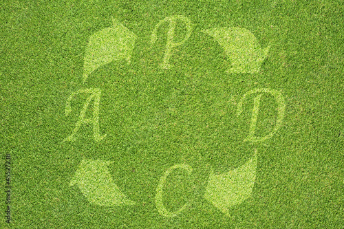 PDCA (Plan Do Check Act) icon on grass background