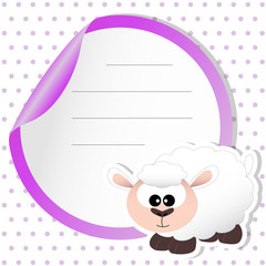 sticker sheep - place your text